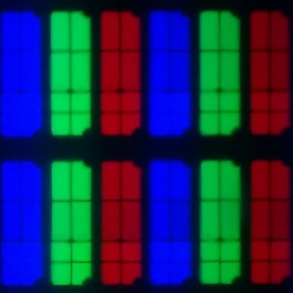 piksele samsunga 65q65t widziane w przybliżeniu