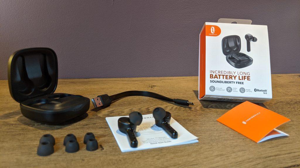 zwartość zestawu sprzedażowego słuchawek taotronics tt-bh1001