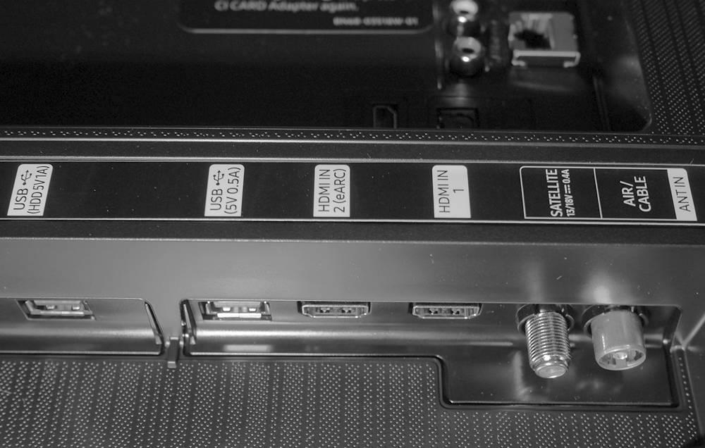 złącza telewizora samsung 65q65t