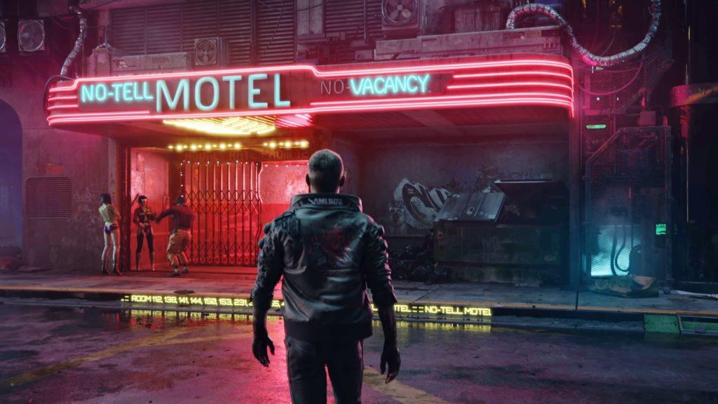 Cyberpunk 2077 motel tło