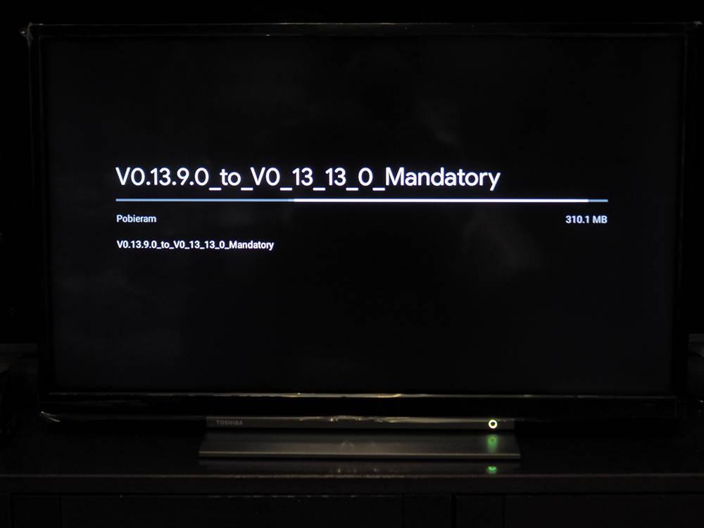 ekran z informacjami o oprogramowaniu telewizora toshiba 32la3b63