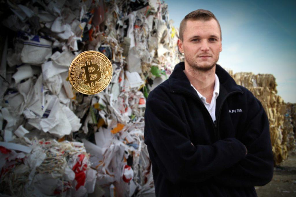 Mężczyzna wyrzucił dysk z bitcoinami