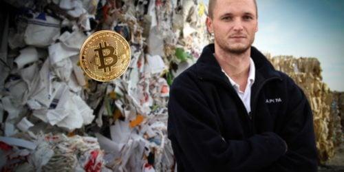Mężczyzna wyrzucił dysk z bitcoinami o wartości miliarda złotych