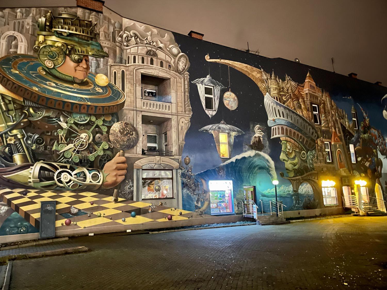 zdjęcie muralu iphone 12 pro