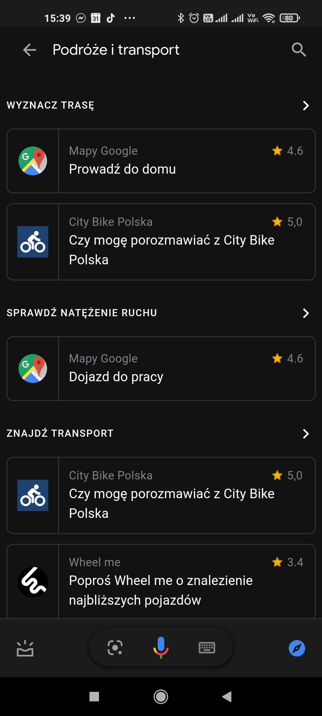 podroze i transport wyszukiwanie asystent google