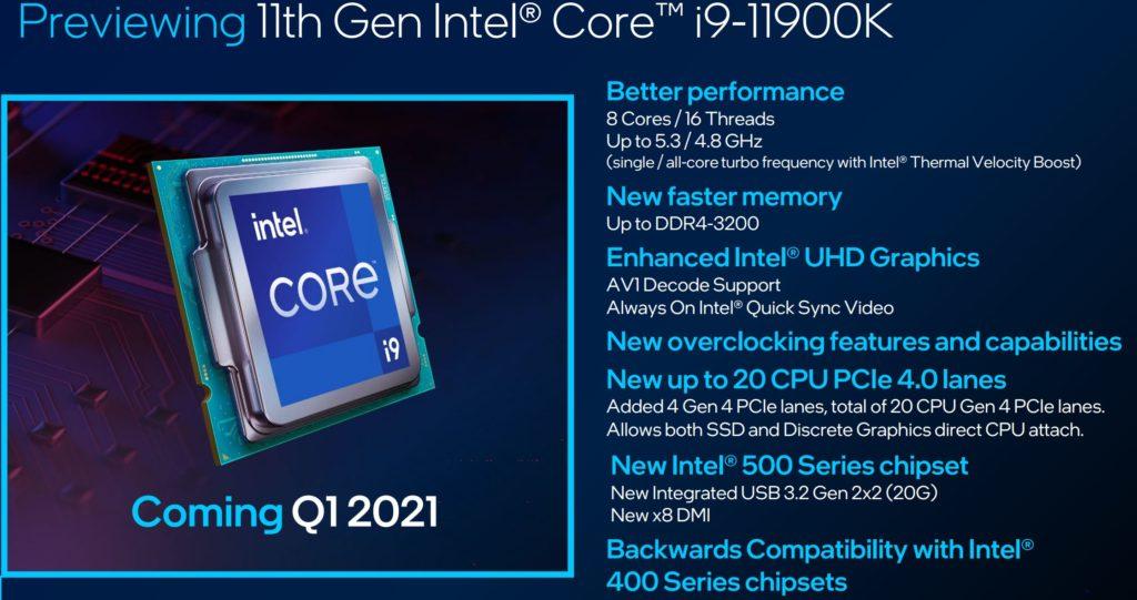 Intel Core Rocket Lake
