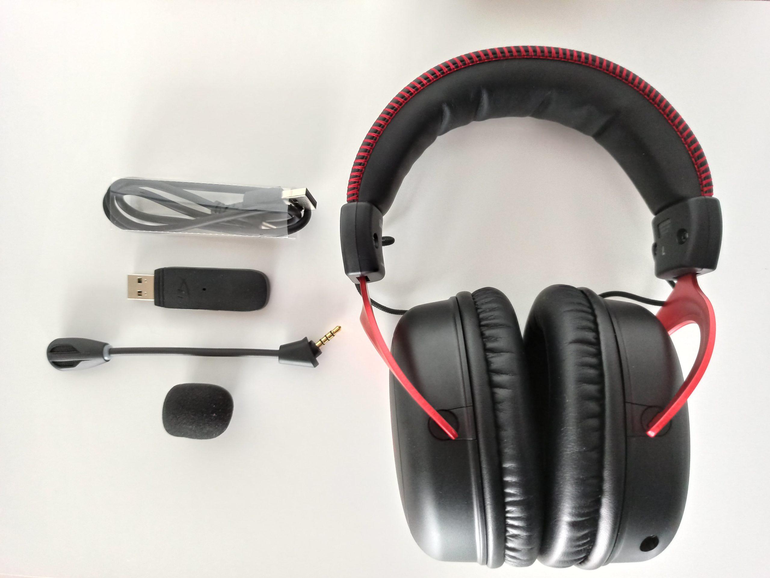 HyperX Cloud II Wireless z akcesoriami