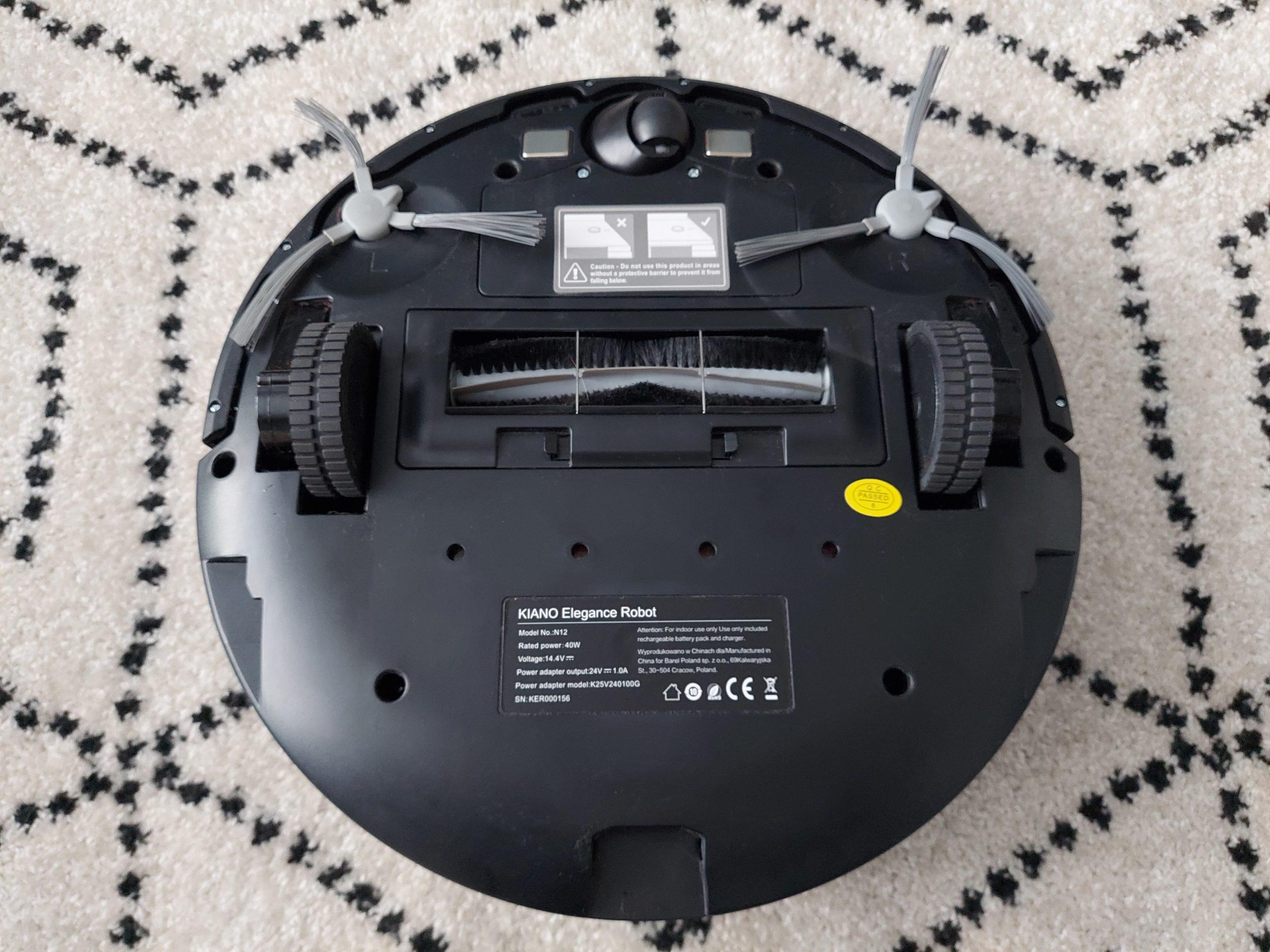 spodnia strona robota sprzątającego kiano