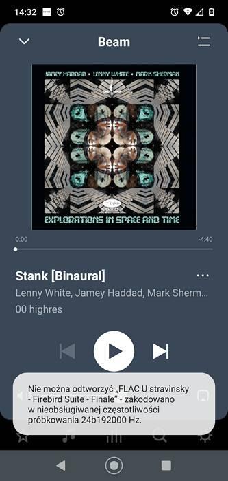 utwór Stank puszczany z aplikacji Spotify