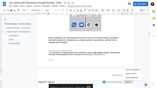 dokumenty google narzędzia funkcje