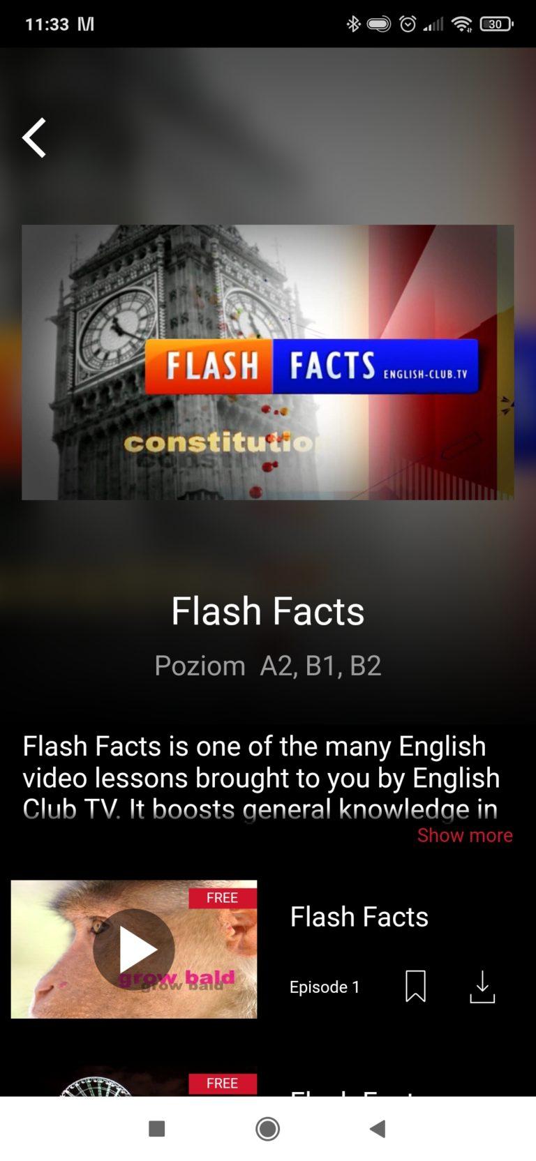 Przykładowy program w English Club TV