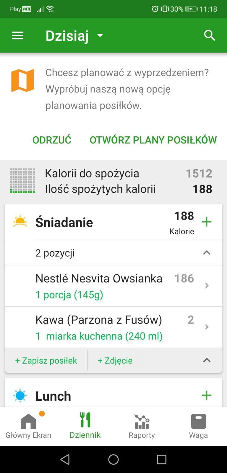 fatsecret aplikacja do liczenia kalorii na smartfon