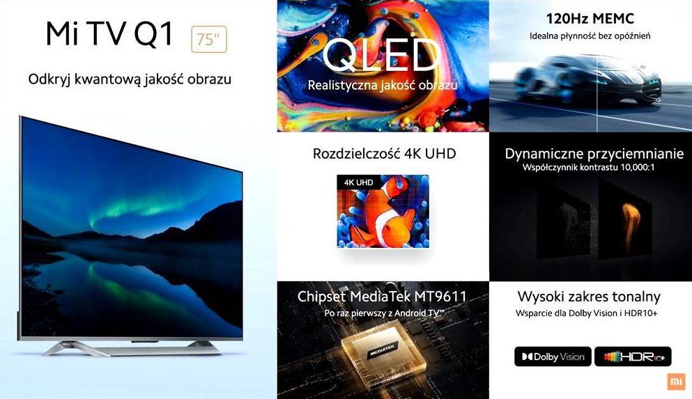 marketingowa prezentacja funkcji i cech telewizora mi q1 tv