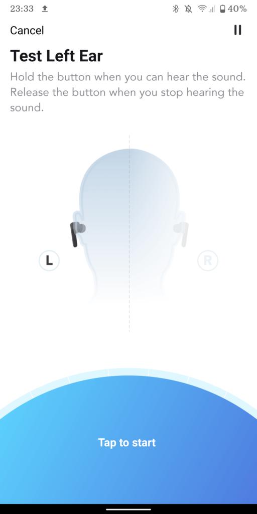 ekran funkcji head id w aplikacji soundciore