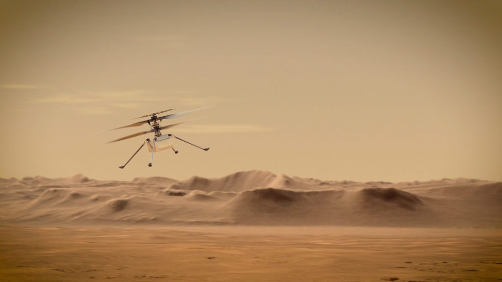 Ingenuity Mars Helicopter na Marsie