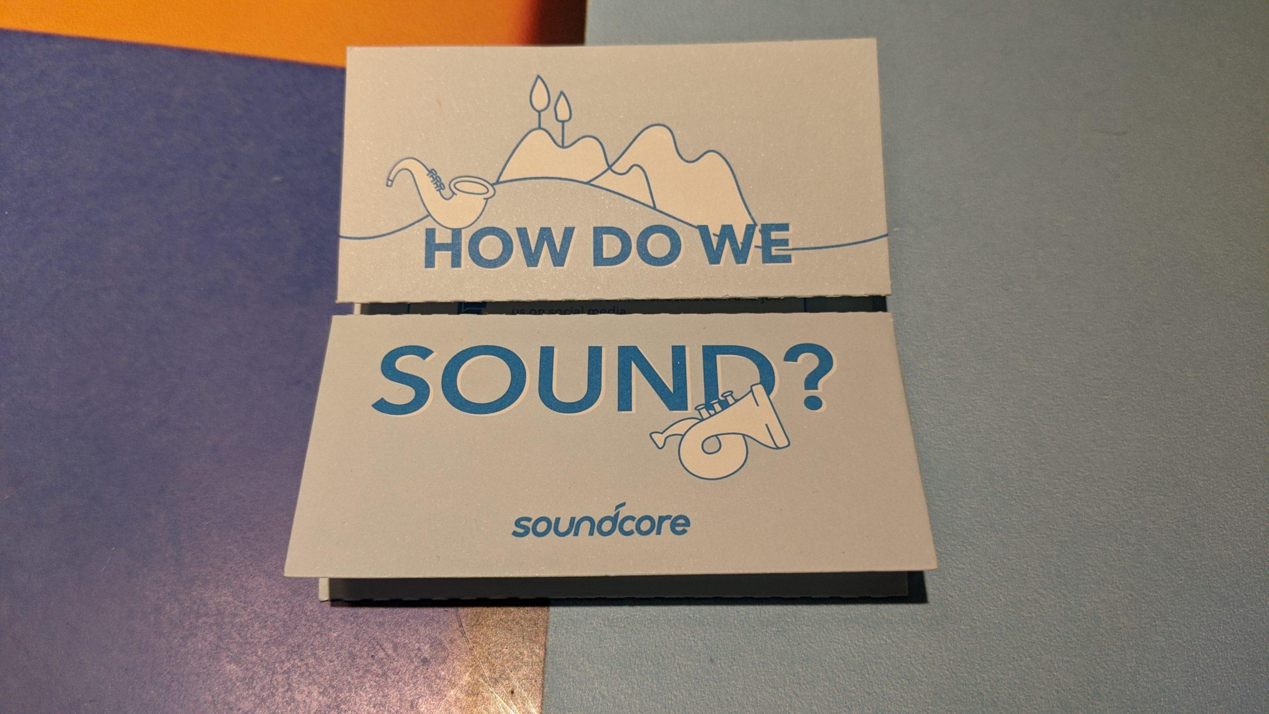how do we sound - dokument dołączany do słuchawek soundcore liberty air2