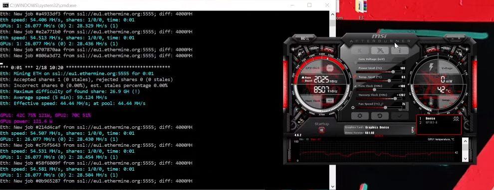 Kopanie kryptowalut po aktualizacji sterownika GeForce