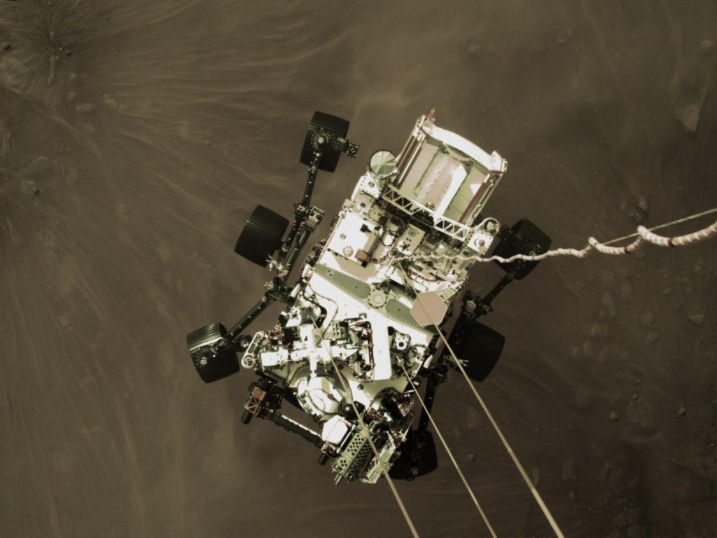 Lądowanie łazika Perseverance na Marsie