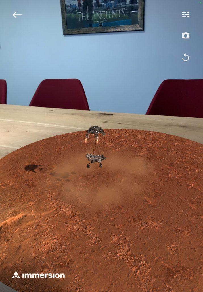 Lądowanie łazika Perseverance w aplikacji Mission To Mars AR