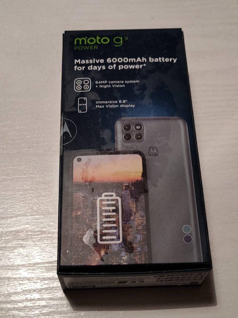 Moto G9 Power pudełko tył