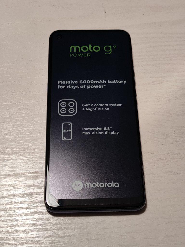 Moto G9 Power wyjęta z pudełka