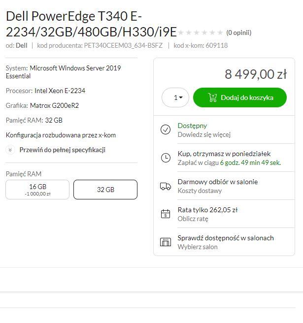 nazewnictwo serwerów Dell