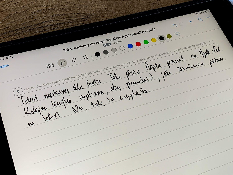 odwzorowanie pisma apple pencil