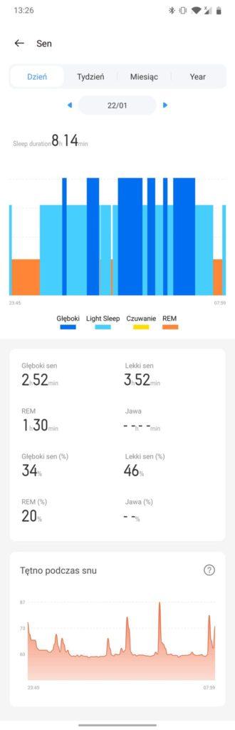 realme watch s monitor snu w aplikacji