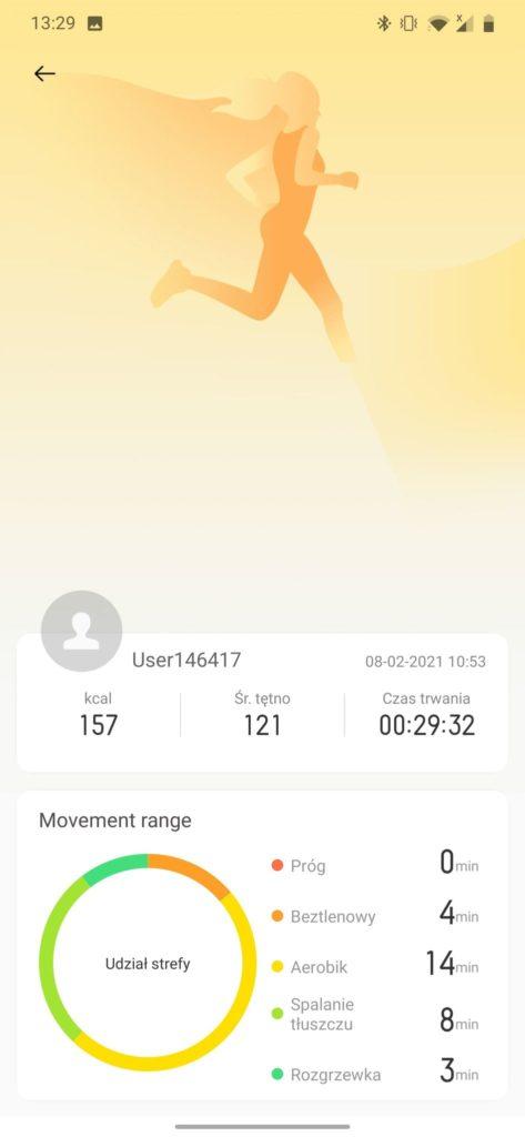 realme Watch S aplikacja joga