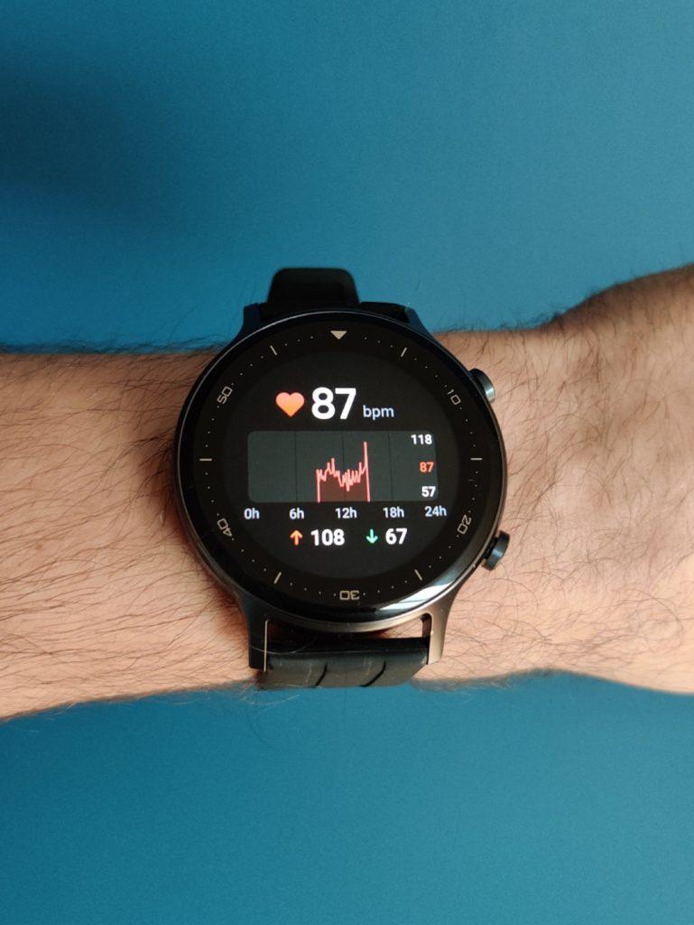 realme Watch S pomiar tętna