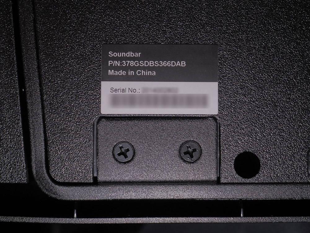 nalepka znamionowa soundbara telewizora philips pus9435