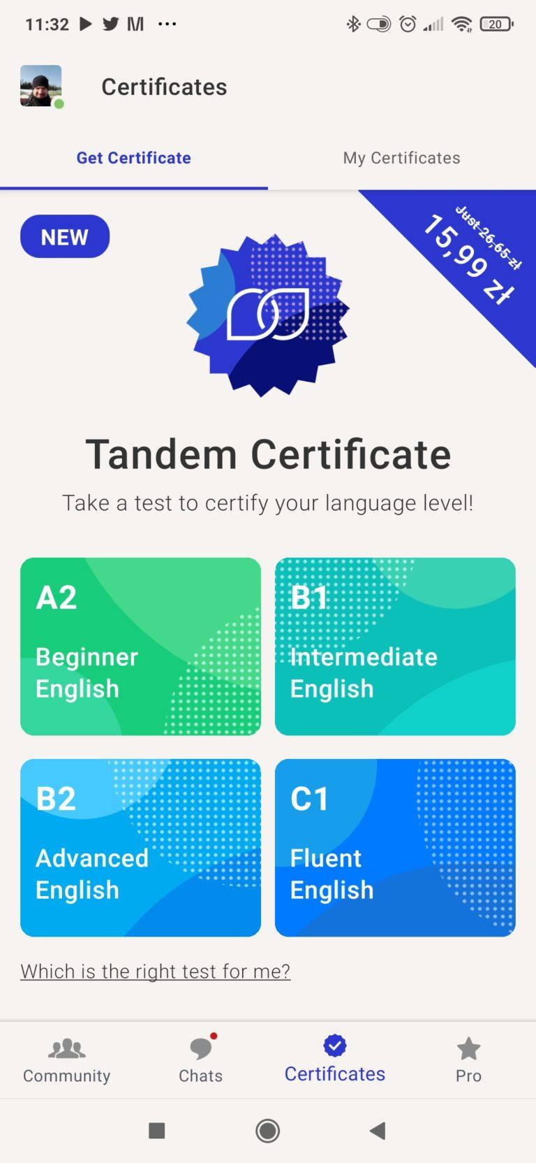Certyfikaty w Tandem