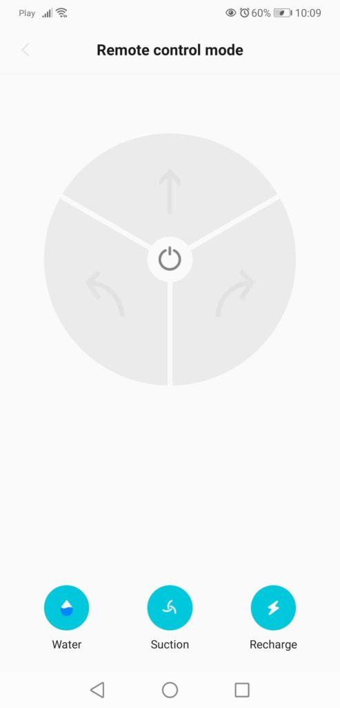 Aplikacja XClea sterowanie ręczne