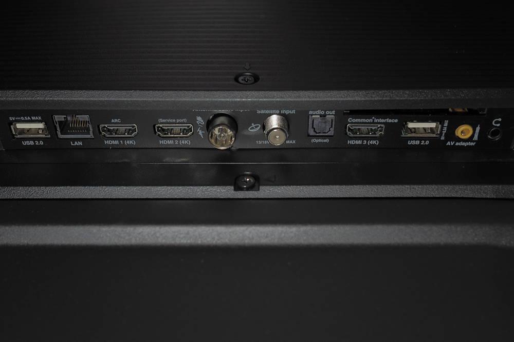 złącza telewizora tcl 50p610