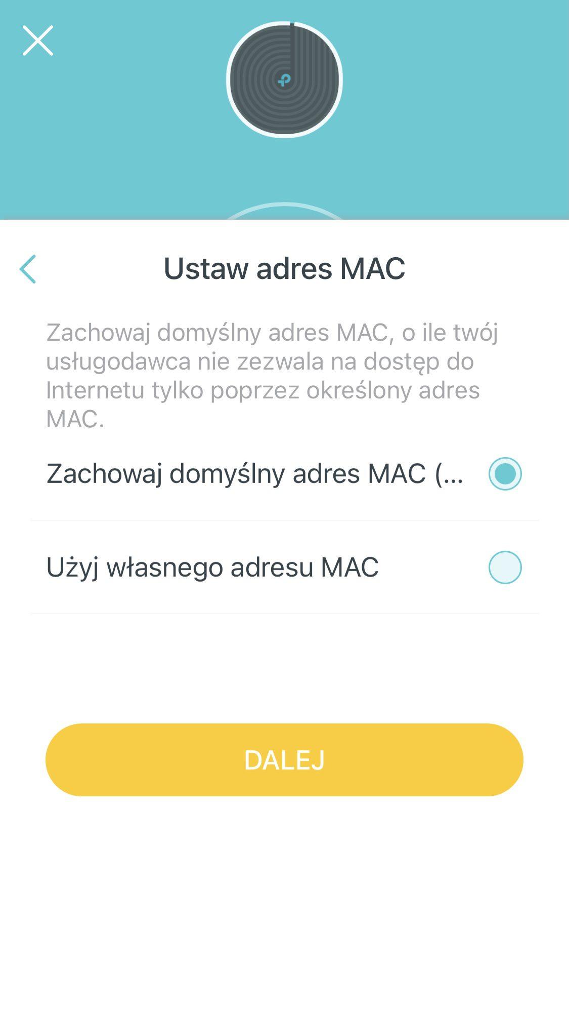 Deco m4 wybór adresu mac