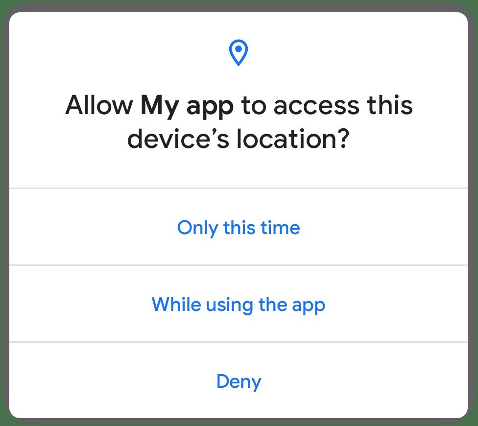 Android 11 jednorazowe zgody