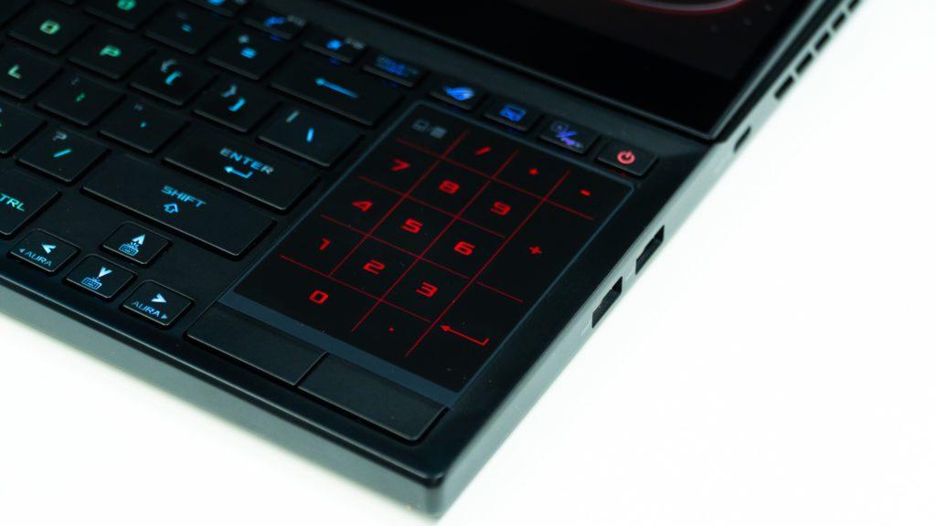 Asus Zephyrus Duo touchpad numpad