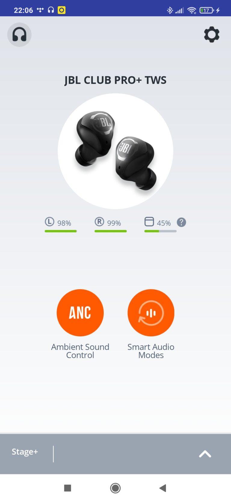 aplikacja JBL my headphones