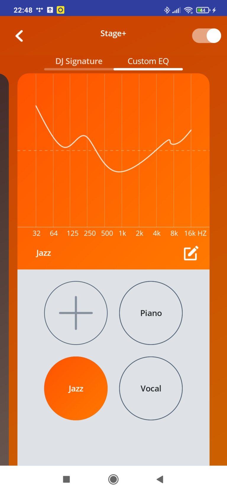 ustawienia dźwięku w aplikacji jazz