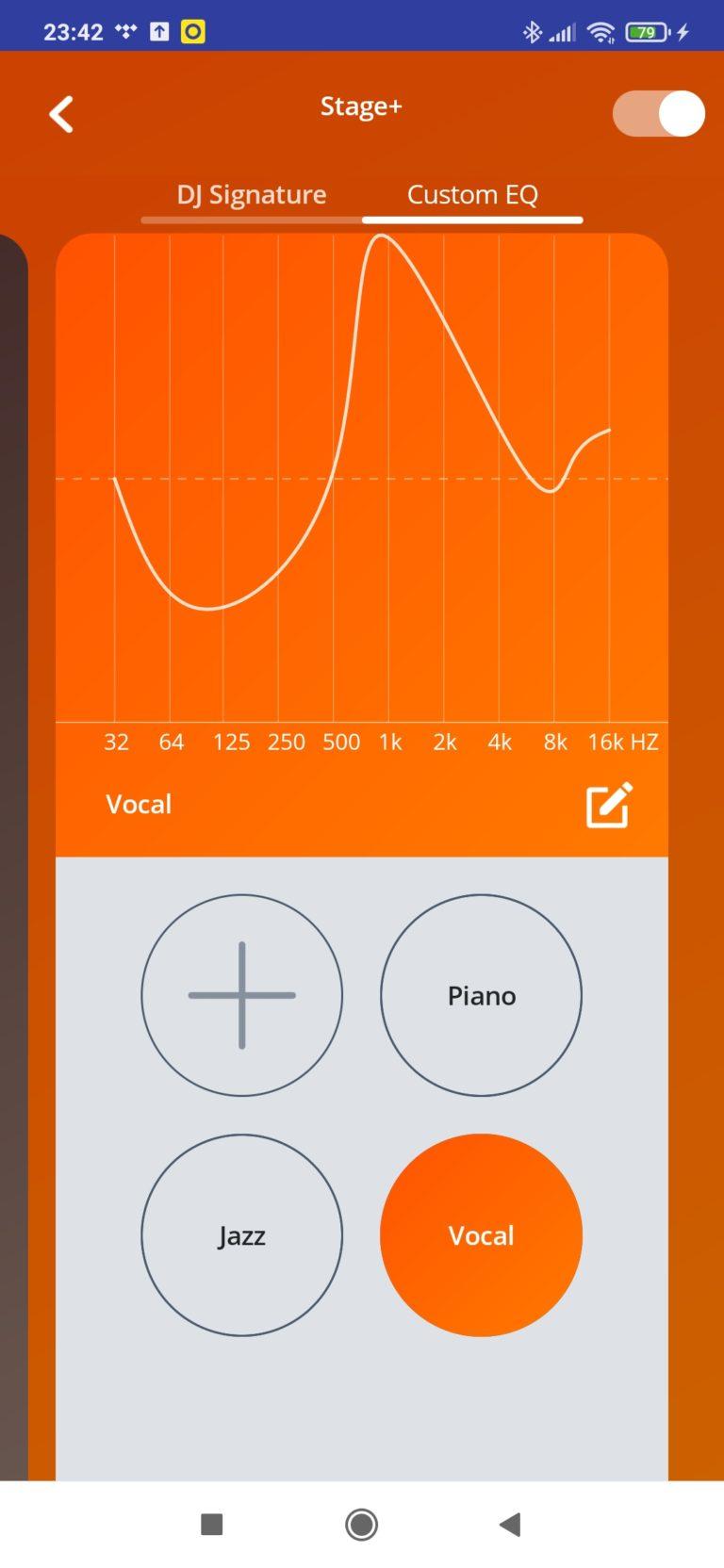 ustawienia dźwięku w aplikacji vocal