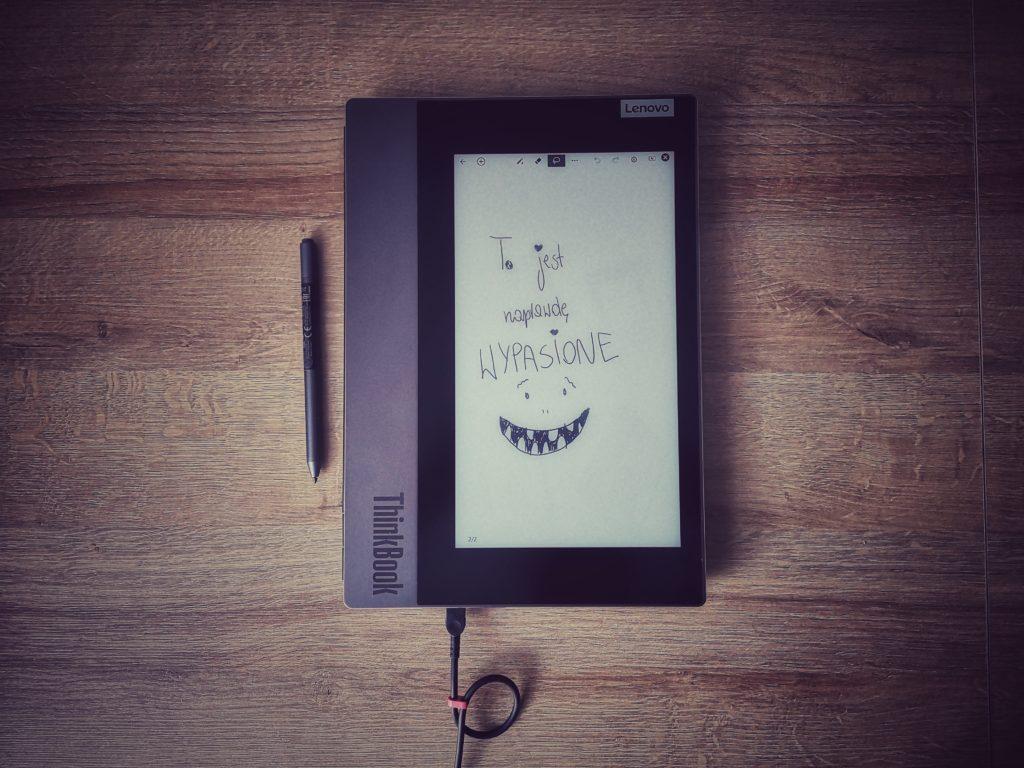 Lenovo ThinkBook Plus e-ink notatki