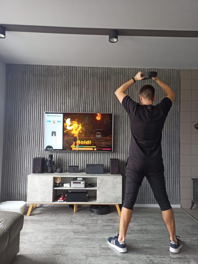 ćwiczenia Pilates z Ring Fit Adventure