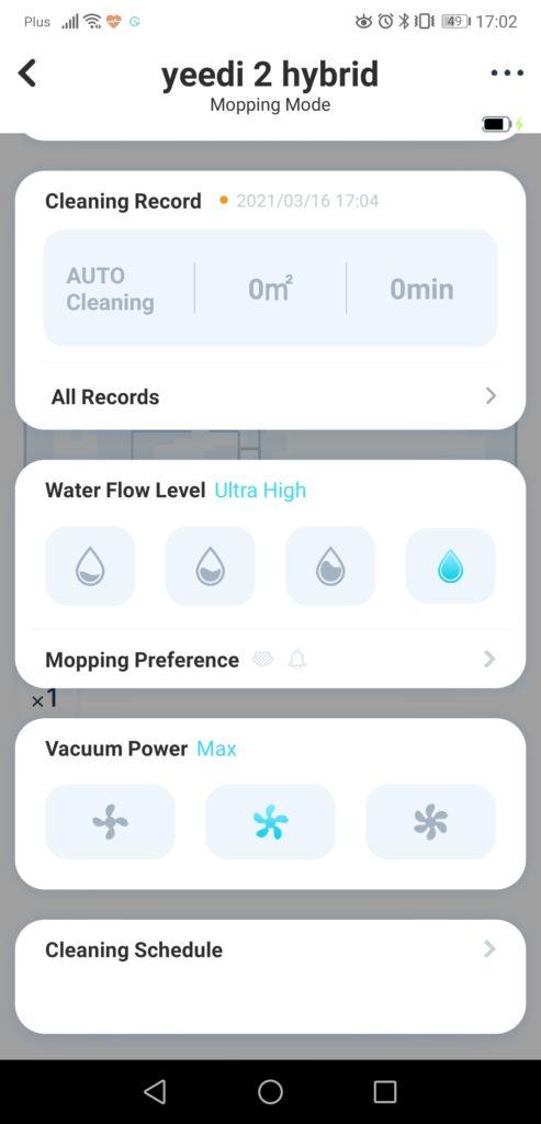 Aplikacja yeedi screenshot opcje