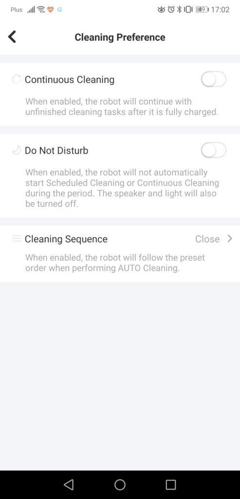 Aplikacja yeedi screenshot opcje w apce