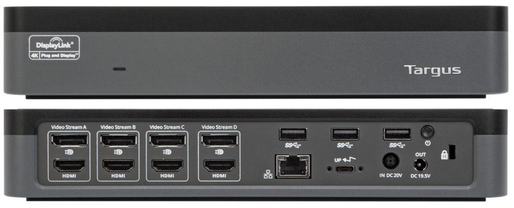 Wyjścia w Targus USB-C Universal Quad 4K