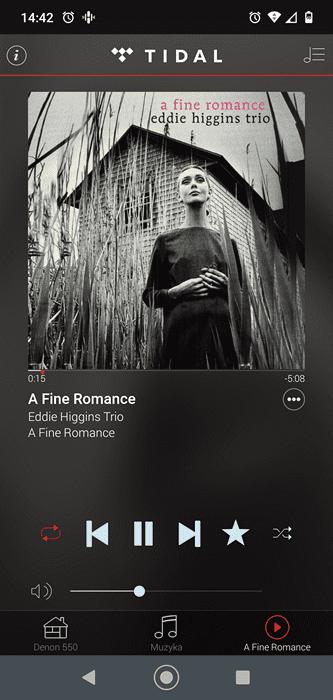 a fine romance w aplikacji tidal