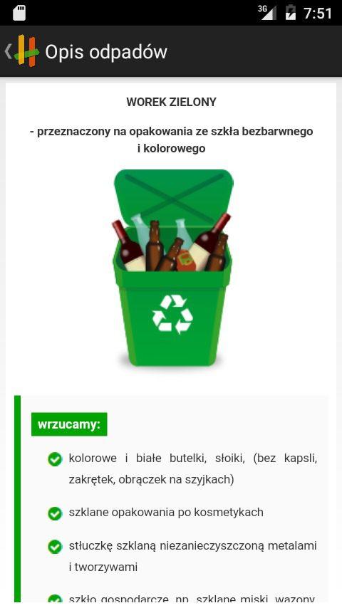 aplikacja eco harmonogram