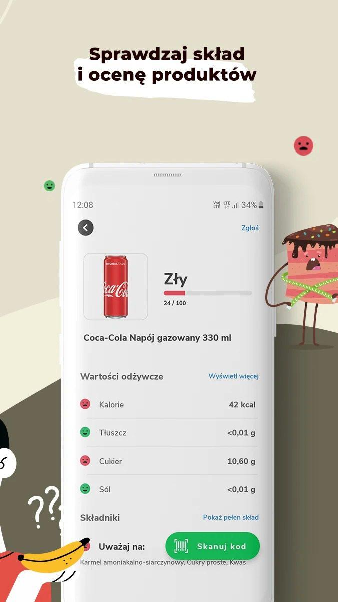 aplikacja zdrowe jedzenie