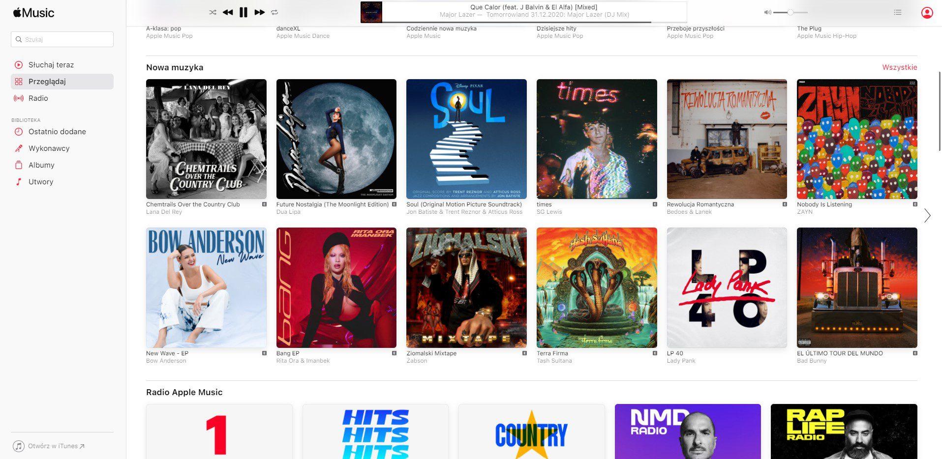 wyszukiwarka w apple music