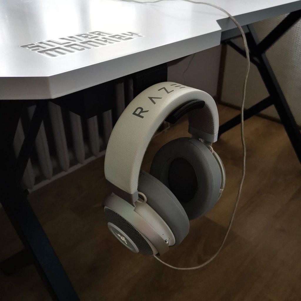 biurko dla gracza silver monkey gd-160 wieszak na słuchawki